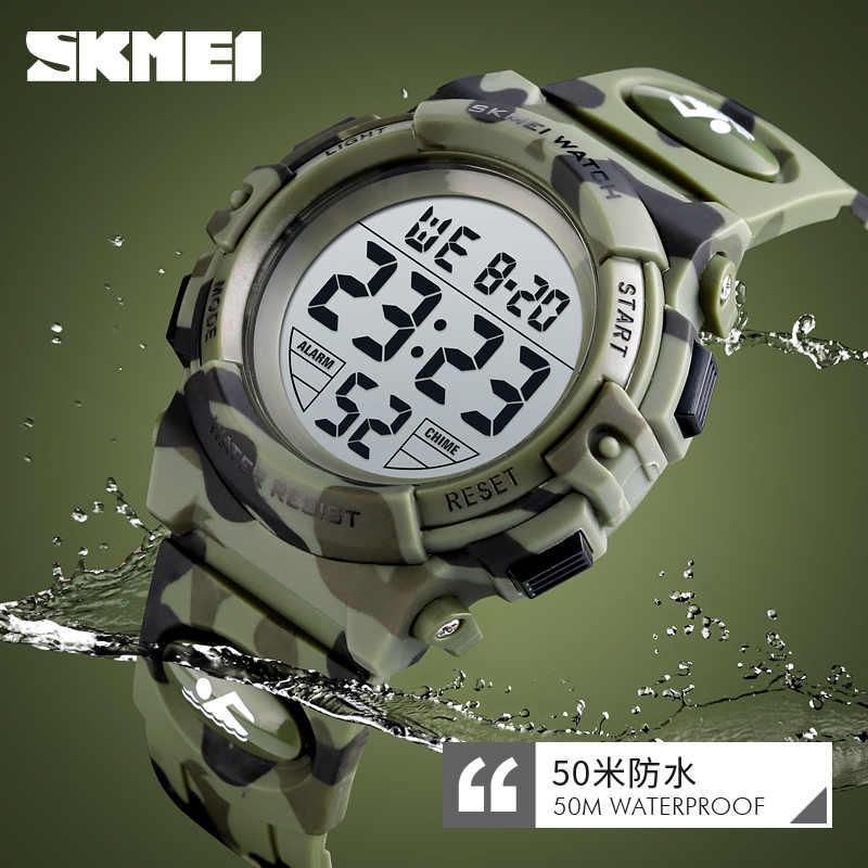 นาฬิกาข้อมือ SKMEI เด็กกีฬานาฬิกา 50M กันน้ำนาฬิกาข้อมืออิเล็กทรอนิกส์นาฬิกาหยุดนาฬิกาเด็กชายหญิง