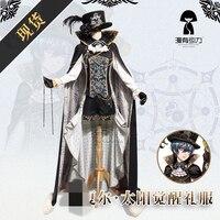 אנימה Kuroshitsuji Ciel Phantomhive שמש התעורר ערכות צבע שחור לבן תחפושת קוספליי בגדי קוספליי מסיבת חג המולד