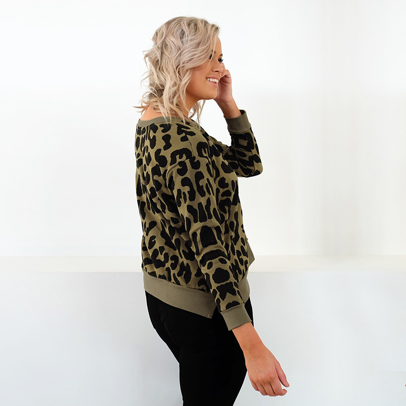 classical leopard pullover woman sweatshirt spring autumn casual long sleeve o-neck female new