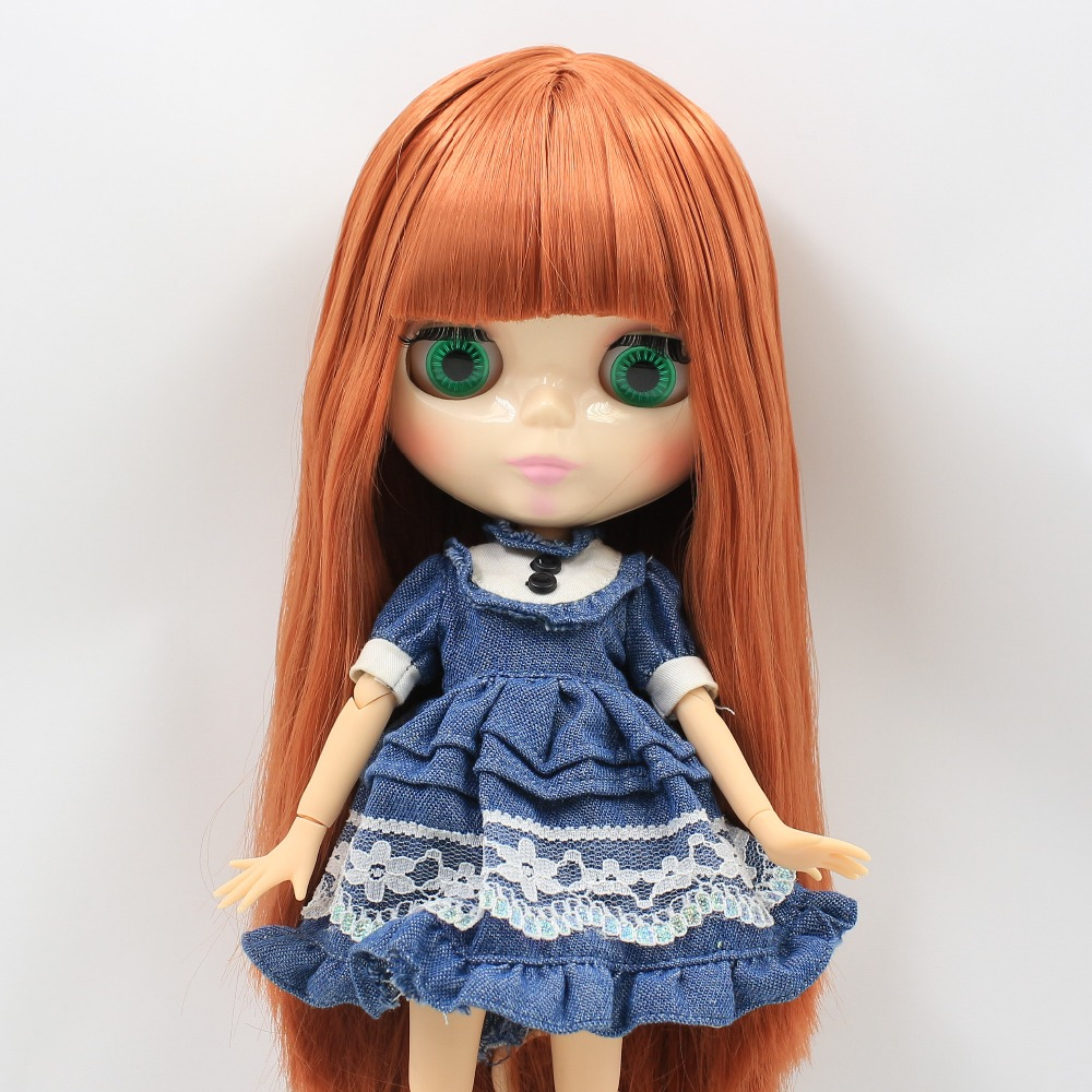 free shipping factory blyth doll 260BL0484 red Brown hair with bangs toy gift bjd