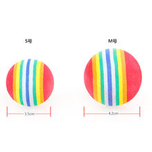 3 Pcs Colorful Pet for Cats dogs Toys Soft Foam Rainbow Play Balls Activity Toys EVA Materials Balls toys round exercise toys