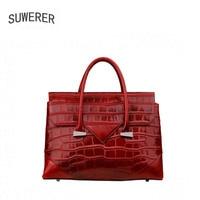 SUWERER Genuine Leather women bags for women 2018 new fashion luxury handbags women bags designer women leather handbags