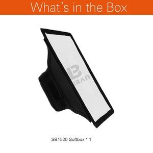 """Image 2 - Godox 15 cm x 20 cm (5.9 """"x 7.8"""") evrensel Katlanabilir Mini Flaş Difüzör Softbox Godox, Canon, Nikon Flaş"""