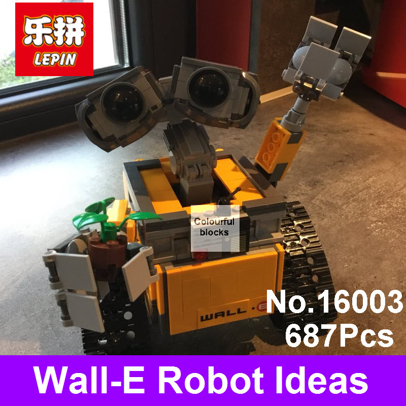 2017 Lepin 16003 Idea Robot WALL E Set Building Kits Blocks Wall-E Bricks Christmas Toys For Children Gift Compatible With 21303 silver plated baby rattle keepsake set perfect gift idea