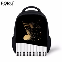 FORUDESIGNS Piano Keyboard with Music Note Fashion School Bags for Kid