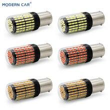 MODERN CAR 2pcs T20 W21W LED Car Light Bulbs 3014 144smd 1156 1157 7440 Turn Signal Lamp Reverse Full 40W Backup Lights