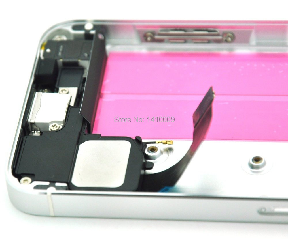 For iPhone 5S SILVER/Gold Glass Middle Frame Bezel Full Assembled ...