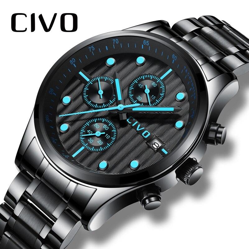 Relogio Masculino чиво Для мужчин часы лучший бренд роскошных часов для Для мужчин Водонепроницаемый хронограф аналоговые кварцевые наручные часы