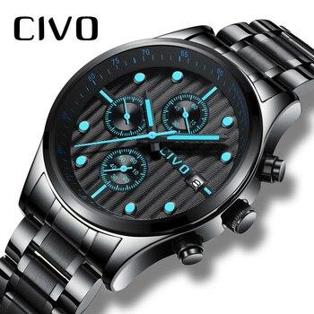 9e90c33d Relogio Masculino CIVO hombres relojes Top marca de lujo reloj hombres  impermeable cronógrafo analógico cuarzo reloj caballeros reloj