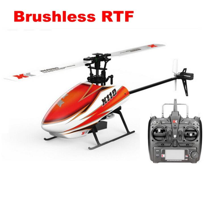 XK K110 6CH Brushless 3D-6G System RC Helicopter RTF with FUTABA S-FHSS original xk k124 bnf without tranmitter ec145 6ch brushless motor 3d 6g system rc helicopter compatible with futaba s fhss