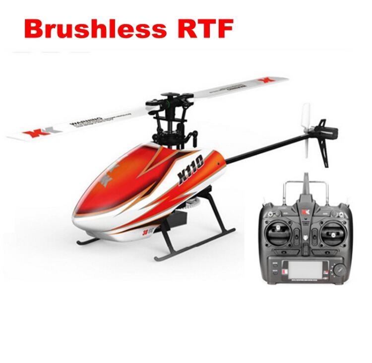 Xk k110 6ch sem escova 3d-6g sistema rc helicóptero rtf com futaba S-FHSS