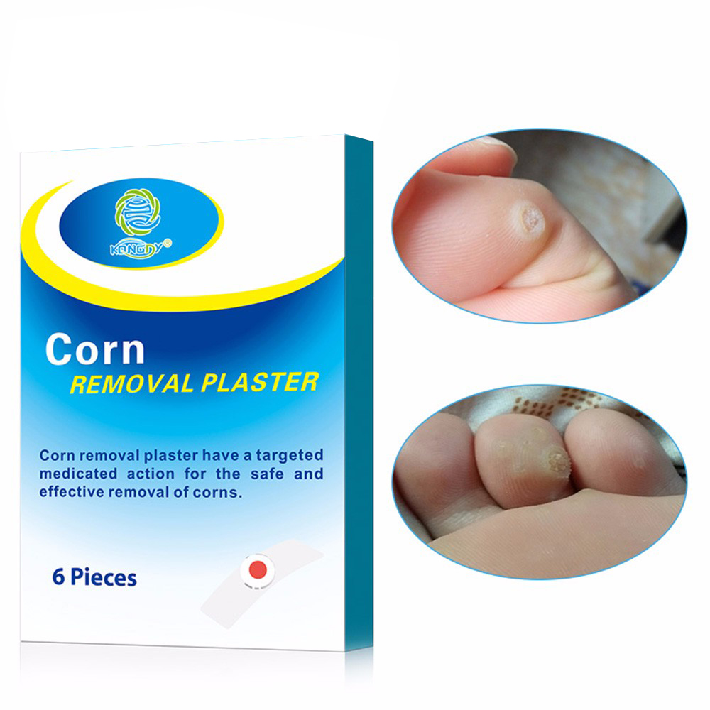 KONGDY New Arrival 6 Pieces/Box Foot Remover Pad Feet Medical Plaster Foot Corn Removal Patch Health Care Pain Relief Patch kongdy 12 pieces 2 boxes corn callus remover patch feet care medical plaster health care corn cutter foot callus removal tools
