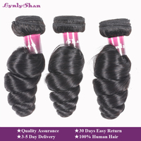 Lynlyshan Loose Wave Hair Bundles Hair Extension 100% Human Hair 1/3/4PCS 10 30 Inch Remy Malaysian Hair Weave Bundles