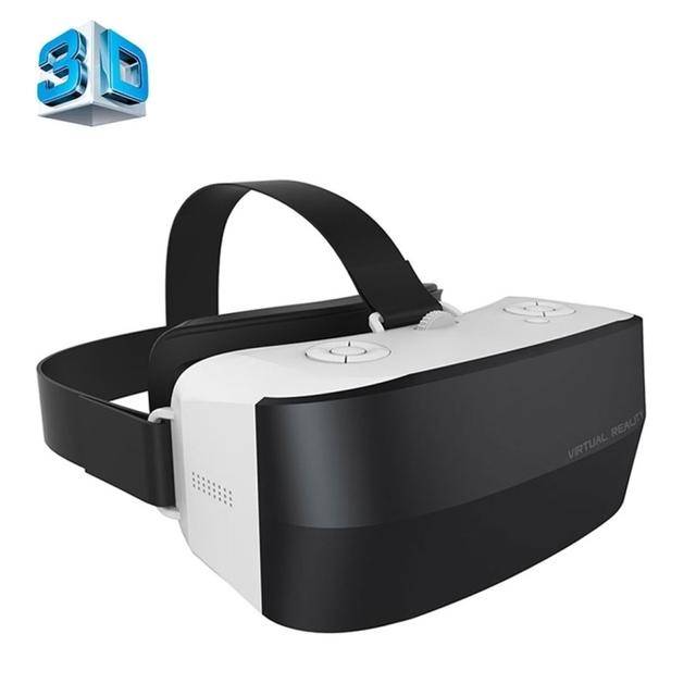 CAIXA Caraok V9 5.5 polegada VR VR Headset Óculos De Realidade Virtual Óculos 3D Suporte USB & TF & 3.5mm Fone de Ouvido Slot & OTG