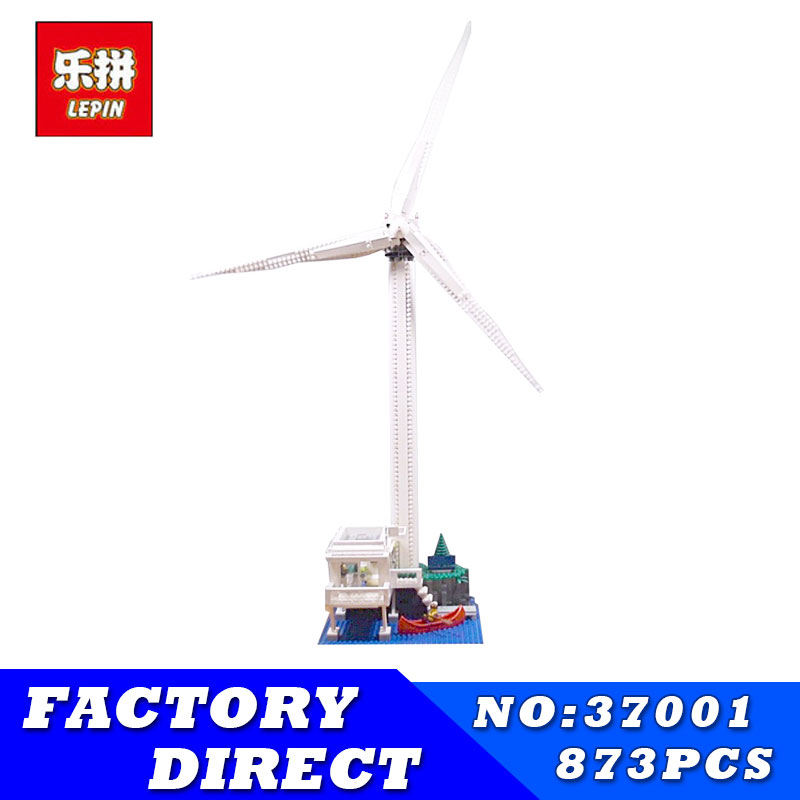 Creative Series LEPIN 37001 The Vestas Windmill Turbine Set Children Building Blocks Bricks Educational Toys Model Gifts 4999 lepin 37001 creative series the vestas windmill turbine set children educationl building blocks bricks toys model legoing 4999