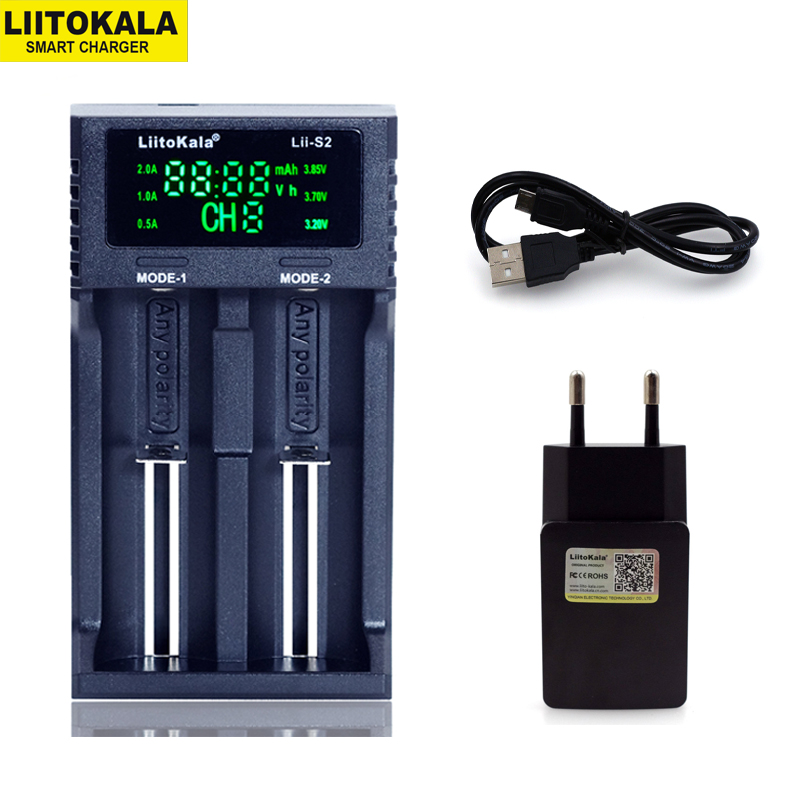 NEW Liitokala Lii-PD4 S4 S2 402 202 100 18650 Battery Charger 1.2V 3.7V 3.2V AA21700 NiMH Li-ion Battery Smart Charger+ 5V Plug
