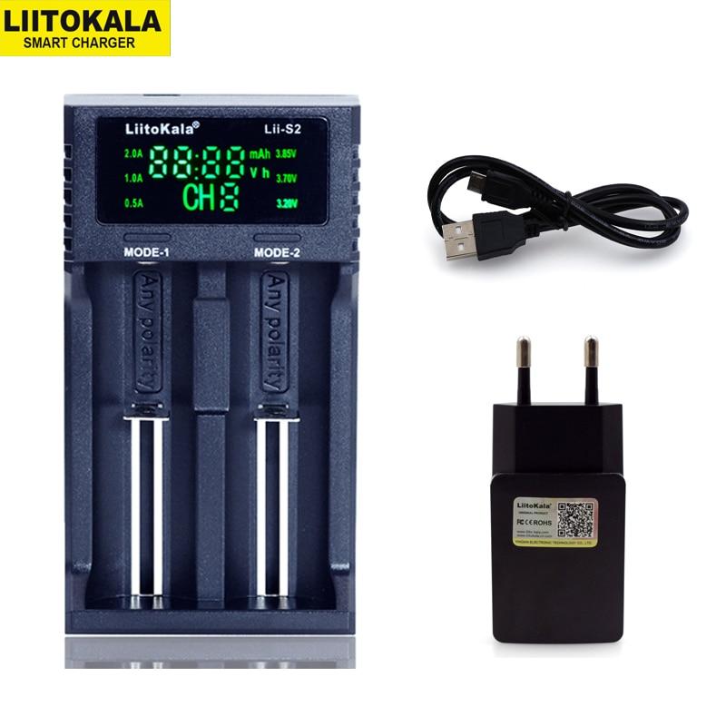 Novo liitokala Lii-PD4 s4 s2 402 202 100 18650 carregador de bateria 1.2 v 3.7 v 3.2 v aa21700 nimh li-ion bateria inteligente carregador + 5 v plug