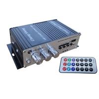 I Key Buy Mini 50W 12V HIFI Car Amplifier Bluetooth Card Reader MP3 Play Dance Speaker