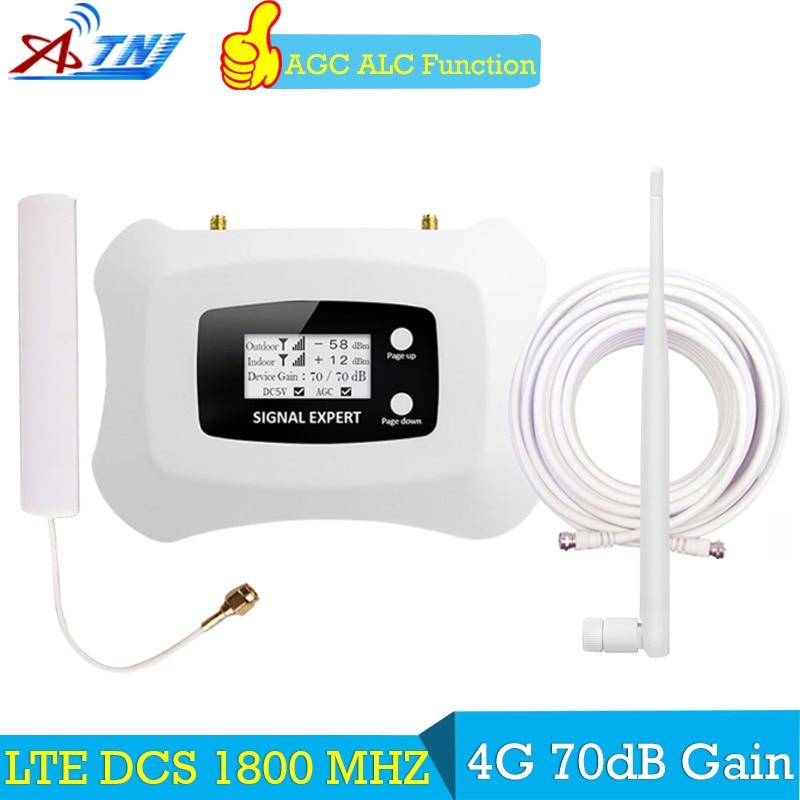 ATNJ 70dB 4g LTE 1800 mhz display LCD GSM amplificador booster GSM 2g 4g impulsionador DCS 1800 amplificador de sinal de telefone móvel impulsionador