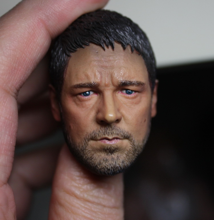 1/6 Gladiator Russell Crowe headsculpt Support HT for DIY 12inch doll Parts, Not include the body and clothes 1 6 pirates of the caribbean angelica headsculpt for diy 12inch doll parts