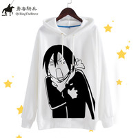 Anime Noragami Cosplay Costume Halloween Party Fun Sportswear Hoodies Harajuku Kawaii Cute Novely Hooded Sweatshirt 071403