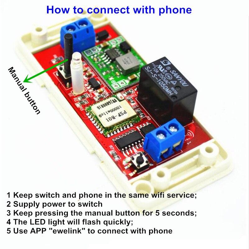 1CH 7 V 9 V 12 V 24 V DC WiFi Schalter Relais Domotica Modul steuer ...