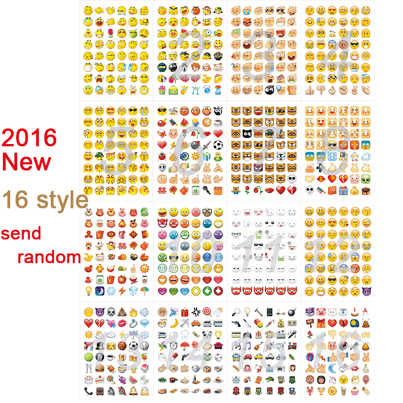 1pc sticker 48 classic Emoji WeChat AliExpress Smile face stickers for notebook albums message Twitter Vinyl