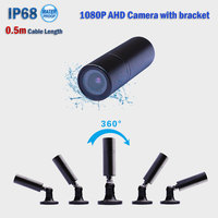 2018 new best 2.0MP 1080P portable AHD CCTV camera IP68 waterproof night vision video surveillance camera with 360 rotated stand