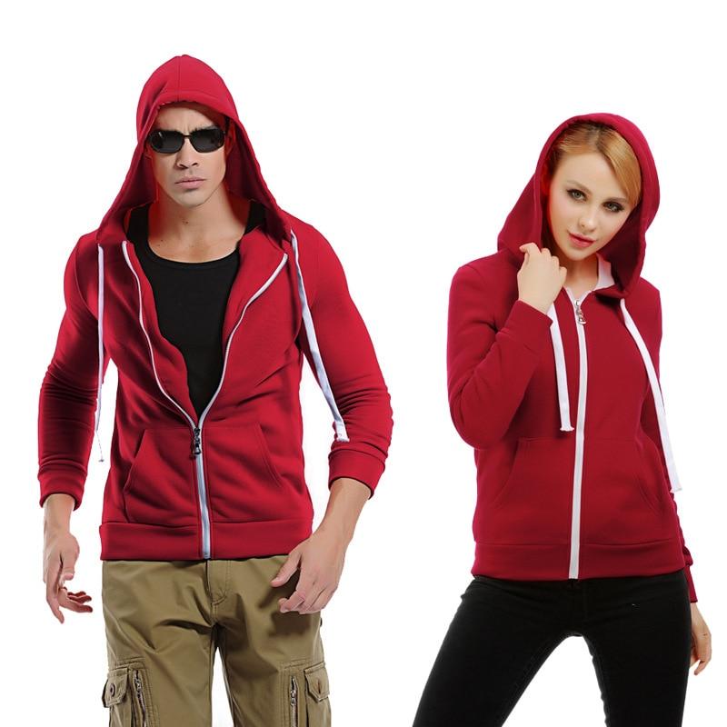 Solid Hoodies Men Women Sweat Homme 2017 Fashion Hip Hop Style Cardign Zipper Hoodie Sweatshirt Casual Thick Pocket Sportswear