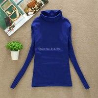 New 2014 Autumn And Winter Women Basic Shirt Long Sleeve Turtleneck Elastic Underwear T Shirts 18