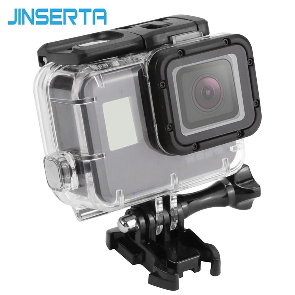 JINSERTA 45 mt Wasserdicht Fall für Gopro Hero 5 Black Edition Kamera mit basis Montieren Schutzhülle Gopro HERO 6 Fall Gehen Pro Accessori