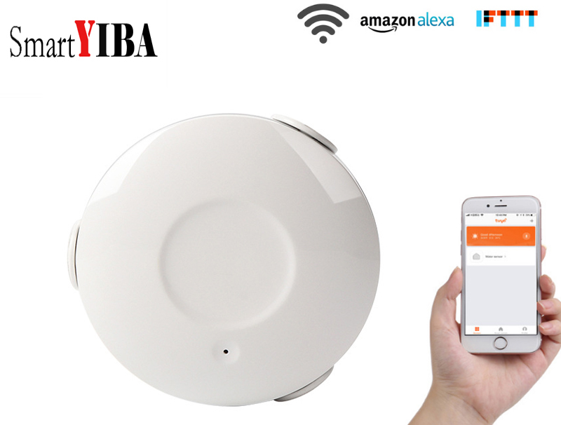 SmartYIBA APP Remote Control WIFI Wireless Water Leakage Sensor Detector Water Flood Sensor Alarm цена