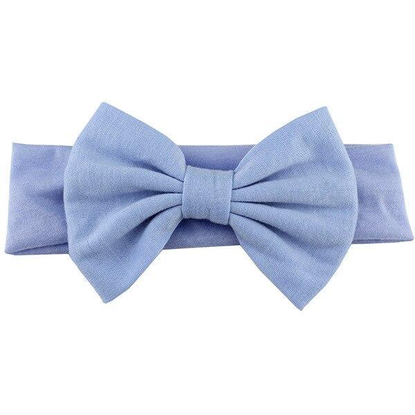 Новинка года; хлопковая эластичная однотонная повязка на голову с бантом для новорожденных девочек; Детская повязка для волос; повязка на голову для младенцев; Бандо; bebe - Цвет: 21