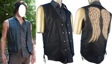 The Walking Dead Daryl Dixon Costume Jacket Vest Angel's Wings Halloween Cosplay Men Women Adult