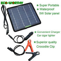 ECO Solar Panel 12V Battery Charger System Maintainer Marine Boat RV Car Waterproof