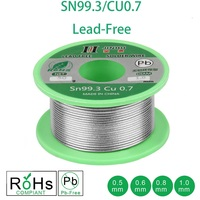 50g loodvrije Soldeer Draad 0.5 1.0mm Loodvrije Loodvrij Rosin Core voor Elektrische Soldeer RoHs|Lassen van Draden|   -