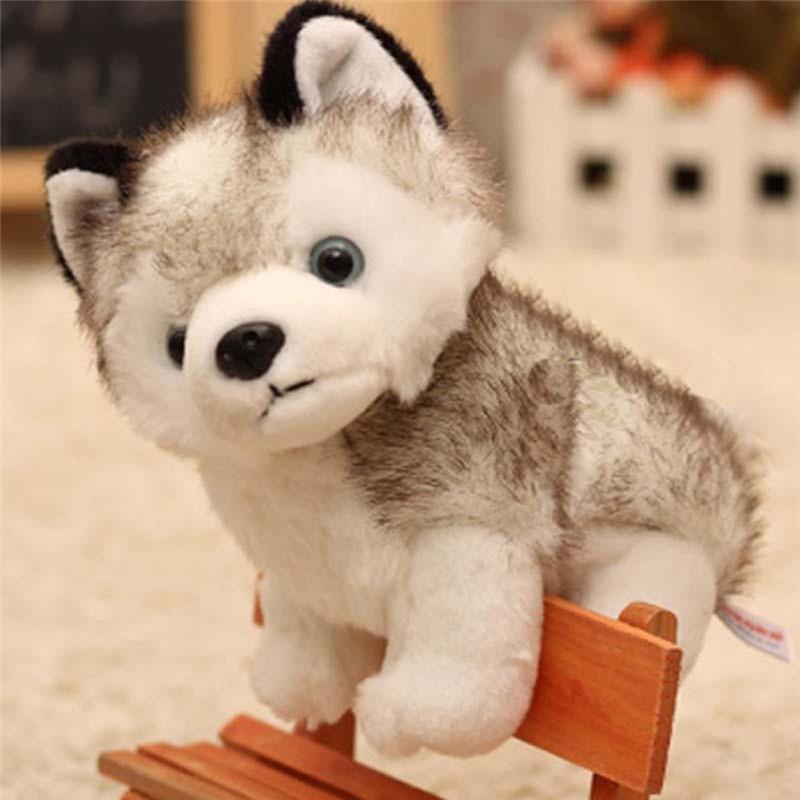 Lovely Simulation Husky Dog Stuffed Animals Plush Toys Gifts Husky