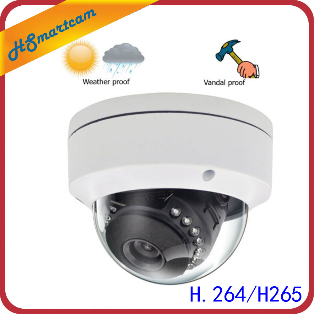 HD H.265 4.0MP IP Dome Camera P2P Onvif Security 1080P Camera Vandalproof Night Vision Network Camera Support xmeye P2P Cloud
