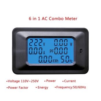 20 100A AC LCD wyświetlacz cyfrowy moc watomierz Monitor napięcie KWh woltomierz amperomierz tanie i dobre opinie OOTDTY Elektryczne 240 V Cyfrowy tylko Other 80A-99A 22000W AC 110-250V 90x54 5x28mm 3 54x2 15x1 1 1 Pc