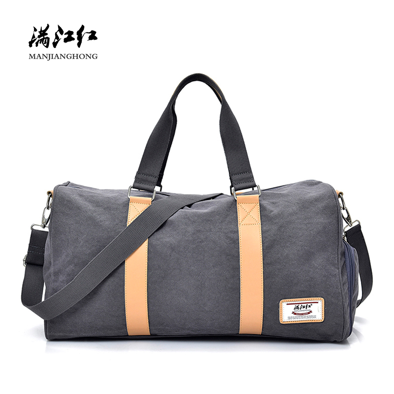 Fashion Canvas Men Travel Bags Large Capacity Casual Travel Duffel Bags