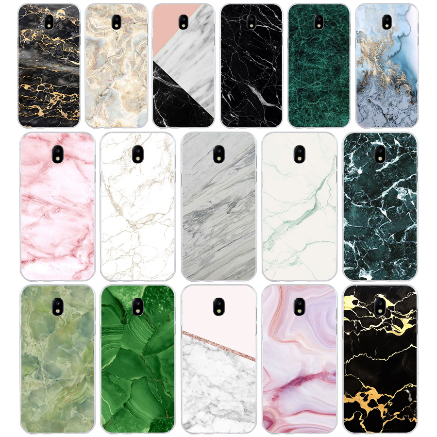273H marble green stone Soft Silicone Tpu Cover phone Case for Samsung j3 j5 j7 2016 2017 a3 2016 a5 2017 a6 2018 image