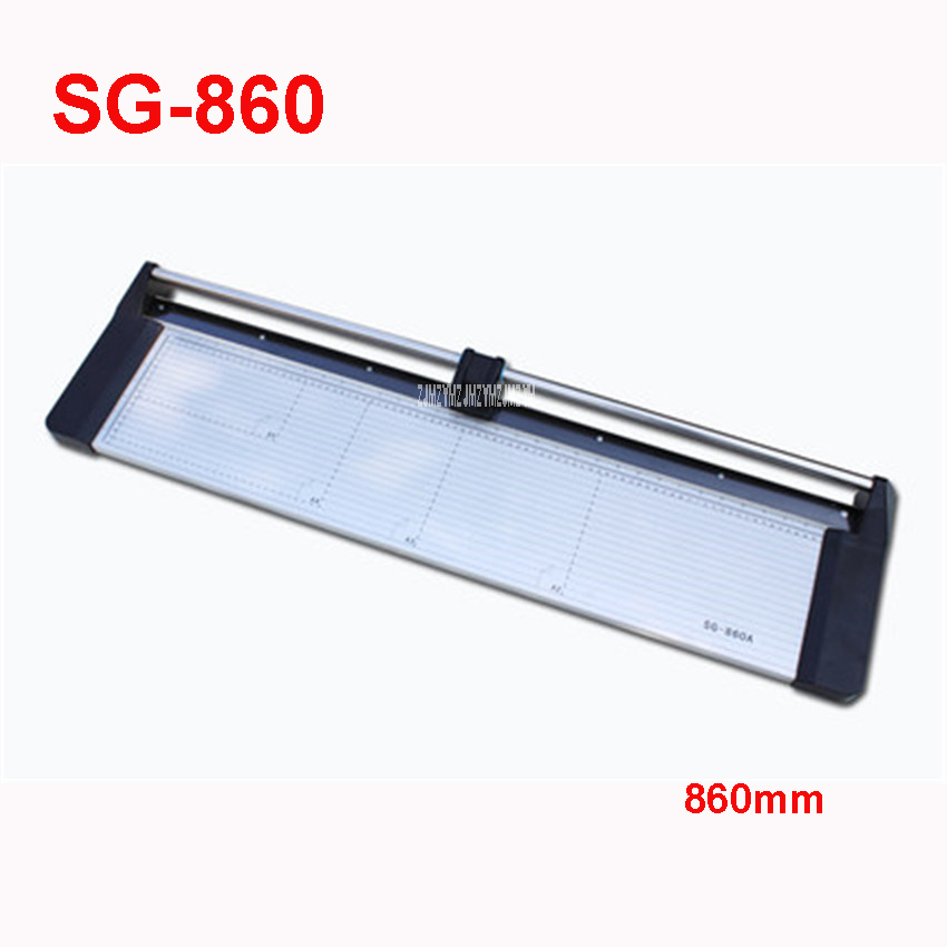 NEW Discount Portable 34 inches 860MM Manual Rotary Professional Paper PVC Cutter Trimmer SG-860 Roller Paper Trimmer 5-6 sheet visad scissors portable paper trimmer paper cutting machine manual paper cutter for a4 photo with side ruler