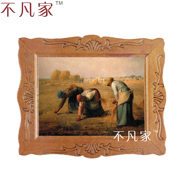 Wholesale Dollhouse 1:12 scale miniature classical some farmers in a farm oil Home Decorations Painting Frame D-10