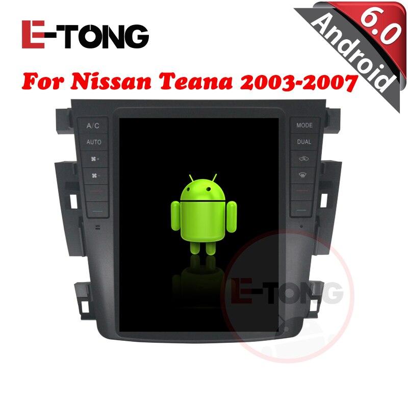 9.7″Android 6.0 Car DVD GPS Quad 4 Core Car Navigation for Nissan Teana 2003-2007 Navigation Radio Stereo Wifi