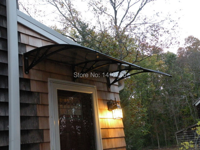 US $435 0  DS120200 P,120x200cm,Depth 120cm,Width 200cm entry door  canopy,polycarbonate canopy,awnings,plastic bracket balcony awnings-in  Awnings from