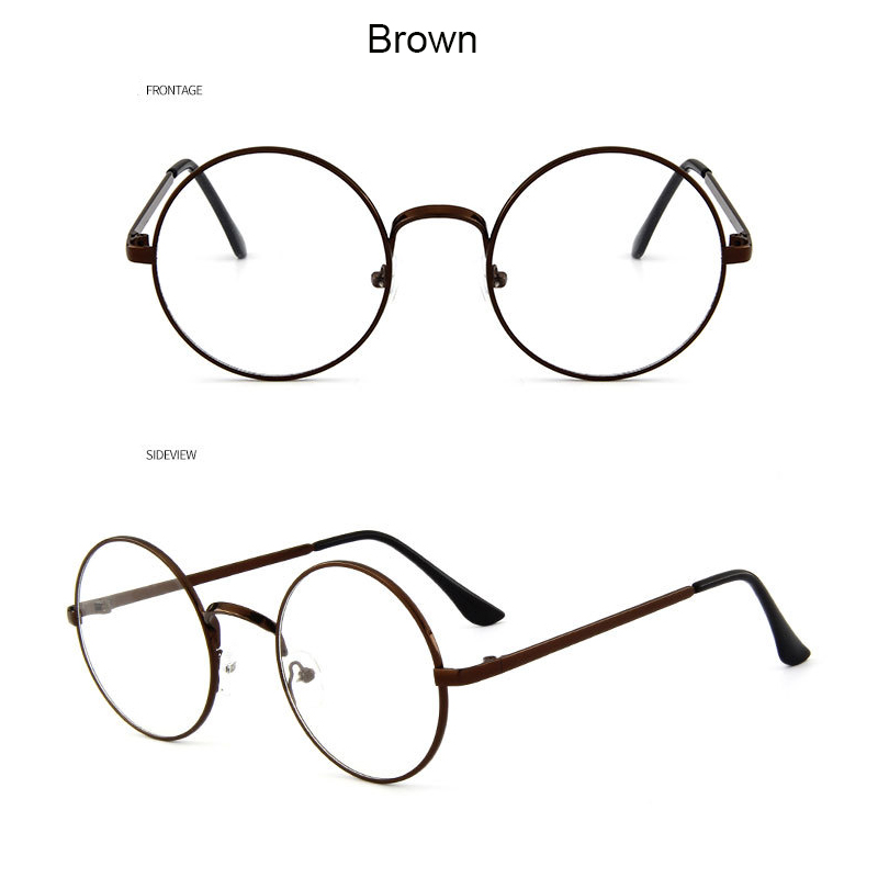 Round John Lennon Style Eye Glasses Rx Prescription Ready Curly Cable Regular ML