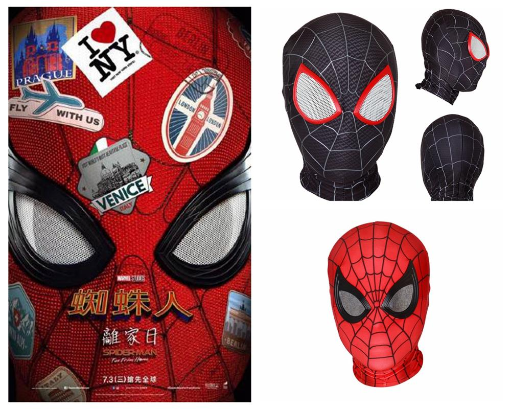 Spider-Man: Far From Home Parker mask Role playing spider mask cosplay Superhero costume accessories mask Away from home mask