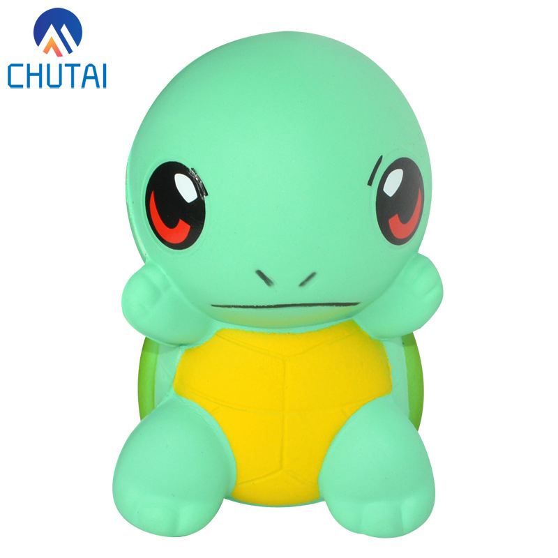 Jumbo Kawaii Cute Cartoon Turtle Squishy Soft Slow Rising Animal Tortoise Scented Bread Cake Kids Fun Toys 11*6.5CM