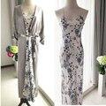 O Envio gratuito de Mulheres Novas Vestes Das Mulheres da Alta Qualidade Longa Seção de High-End de Seda Pijama Roupão Camisola Pijama Bluecolor LM8003
