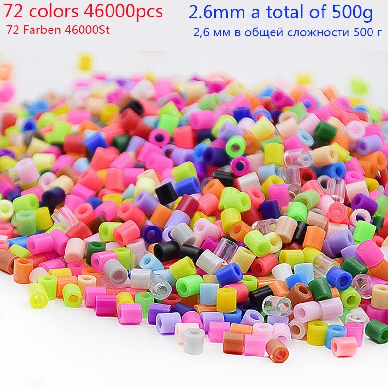500g/bag 2.6mm Hama Beads 72 Colors Mixing Kids Hama Hama Beads 100% Quality Guarantee Perler Fuse Beads Diy Toy Beads Wholesale